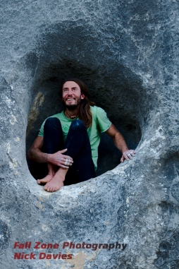 Christian in the eye of Cyclops, Castle Hill, New Zealand