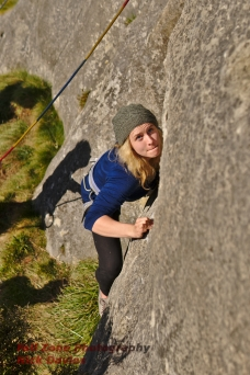 Chloe steering down a knife edge crimp